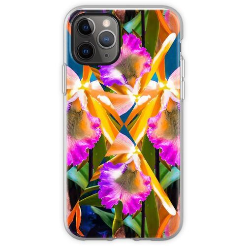 Orchideen Orchideen Orchideen Orchideen Flexible Hülle für iPhone 11 Pro