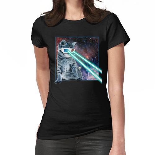Captain Laser Cat 3D Brille Frauen T-Shirt