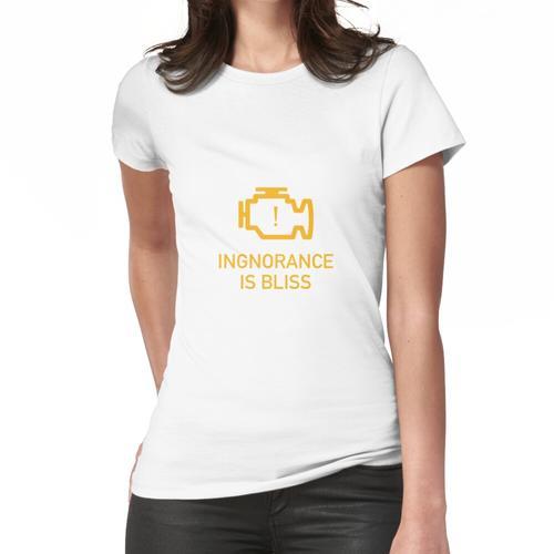 Welches Motorlicht prüfen? Frauen T-Shirt