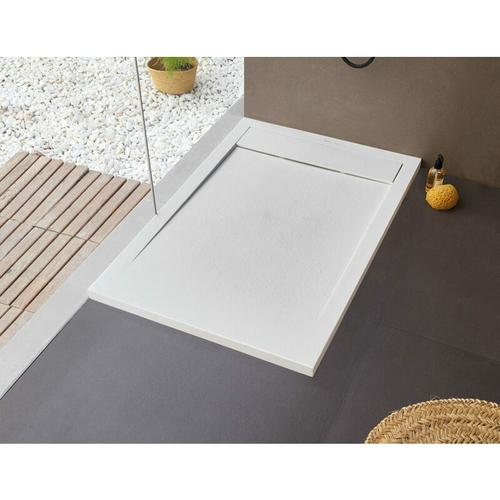 BB NEW YORK Rechteckige Duschwanne 120 x 90 x 2,5 cm weiß