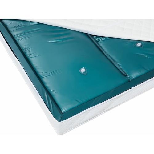 Wasserbettmatratze Blau Vinyl 180 x 200 cm Dual System Leicht beruhigt Mittelfest zwei Wasserkerne