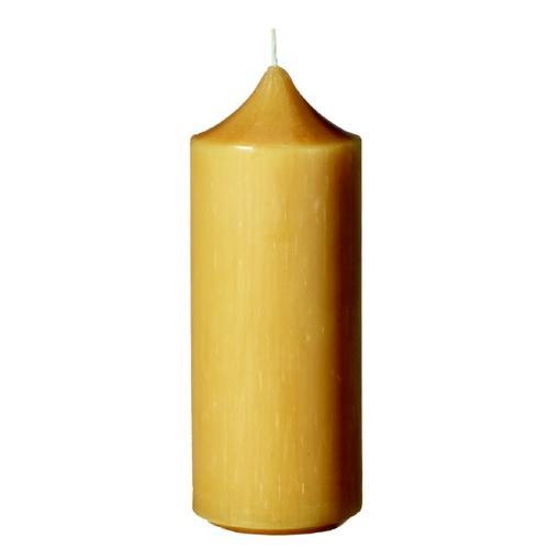 Kopschitz Kerzen 100% Bienenwachs Stumpenkerzen Honig (Bienenwachs), 150 x 58 mm, 6 Stück