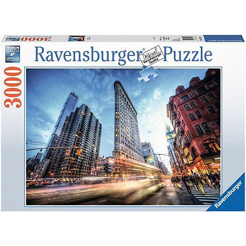 Puzzle 3000 Teile, 121x80 cm, Flat Iron Building New York