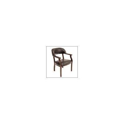 Regency Ivy League Captain's Vinyl Chair - Burgundy