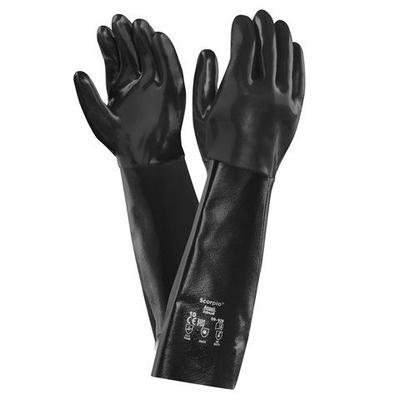 """Ansell Healthcare Laboratory Gloves Scorpio 09-928 Neoprene Gloves 45.7cm/18in Gauntlet 36 Pair/Case"""