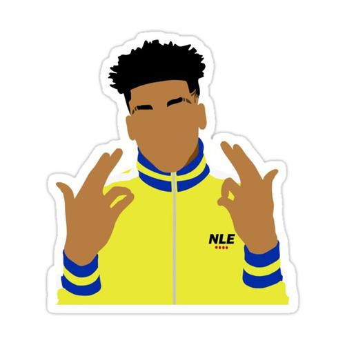 NLE Choppa Simplified Sticker