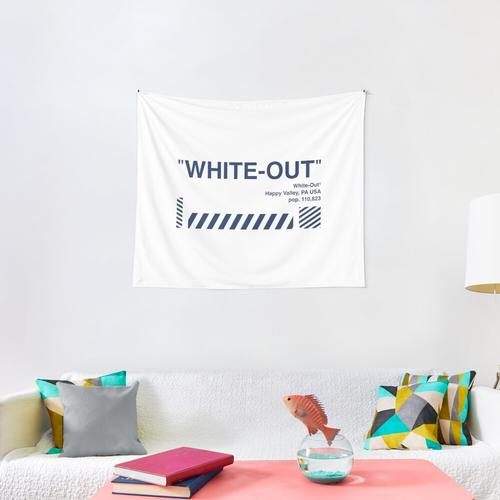 White-Out Wall Tapestry