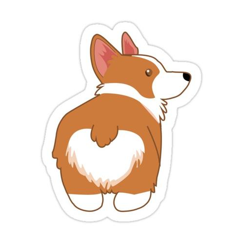 Cute Corgi Sticker Sticker