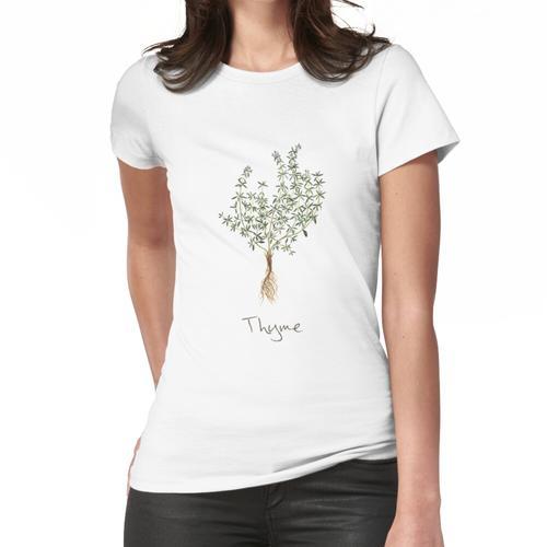 Thymian-Kraut, Thymian-Pflanze, Thymian-Druck, Thymian-Kunstdruck Frauen T-Shirt