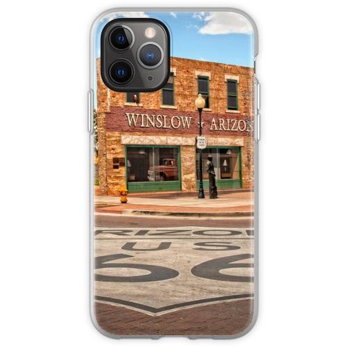 Flachbett Ford und Winslow Route 66 Flexible Hülle für iPhone 11 Pro