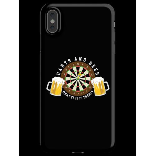 Darts and Beer - Dartscheibe Turnier Sport Spass iPhone XS Max Handyhülle