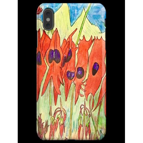 64. Desert Pea und Känguruhpfote iPhone XS Max Handyhülle