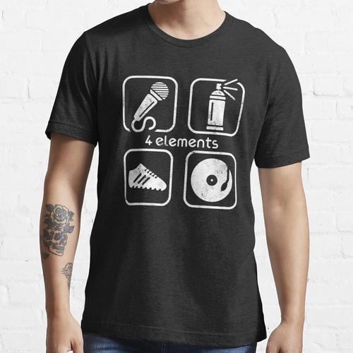 4 ELEMENTS MC, CAN, SNEAKER, DJ USED LOOK BY SUBGIRL Essential T-Shirt