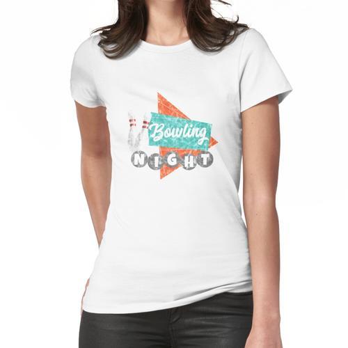 BOWLING NACHT Bowlin Bowling Split Retro Bowling Bowling Geburtstag Bowling Design Vi Frauen T-Shirt