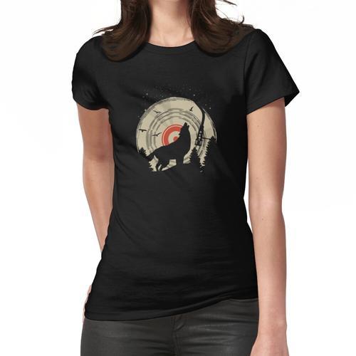 Wolf, Plattenspieler, Schallplattenspieler, DJ Frauen T-Shirt