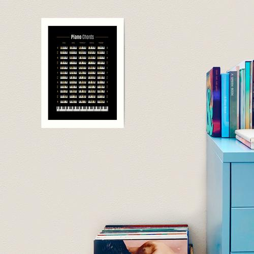 Piano Chord Chart Kunstdruck