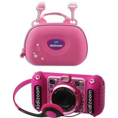 Vtech Kinderkamera KidiZoom Duo DX, pink, 5 MP, inkl. Tragetasche rosa Kinder Kidizoom Elektronikspielzeug