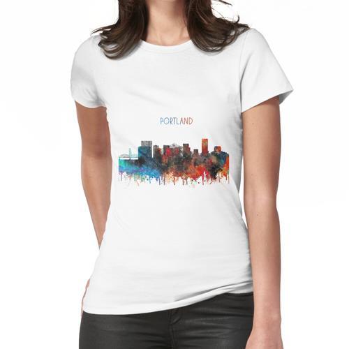 Portland, Portland-Skyline, Portland Oregon Frauen T-Shirt