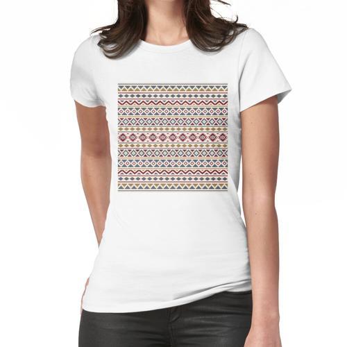 Aztec Essence Muster II Rot Blau Gold Creme Frauen T-Shirt