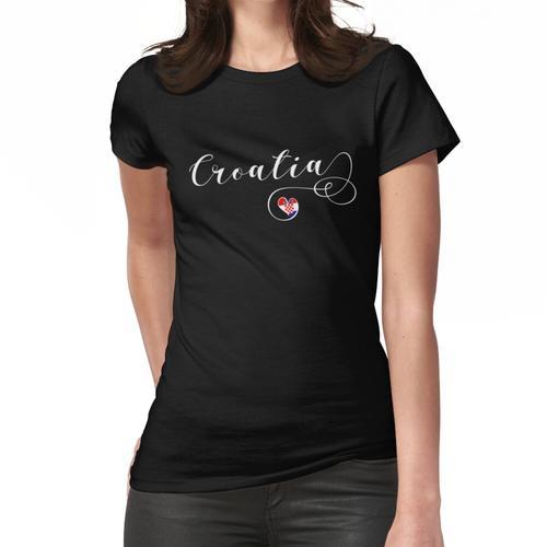 Kroatien-Herz, Kroatien-Flagge, ich liebe Kroatien Frauen T-Shirt