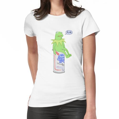grüner Mann sitzt auf Handelsmarkenbier Frauen T-Shirt