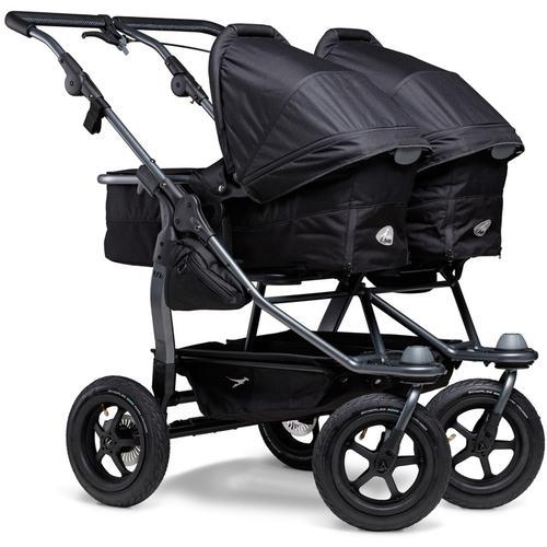 tfk Zwillings-Kombikinderwagen duo, 36 kg, Zwillingskinderwagen; Kinderwagen für Zwillinge; Zwillingswagen schwarz Kinder Geschwisterwagen Buggies