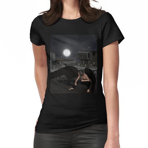 Männlicher städtischer Schutzengel, duckend Frauen T-Shirt