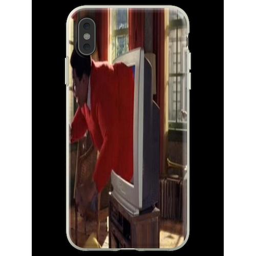 Fat Albert steckte in einem Fernseher Flexible Hülle für iPhone XS Max
