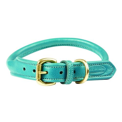 WeatherBeeta Hunde-Halsband Roll Leder Hundehalsband, Textil, (1 St.) grün Hundehalsbänder Hund Tierbedarf