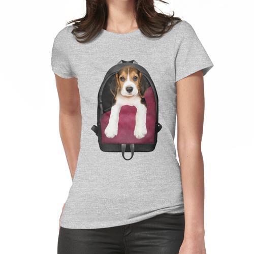 Beagle-Welpen-Rucksack Frauen T-Shirt