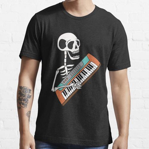 Skelett mit Keyboard, Synthesizer Essential T-Shirt