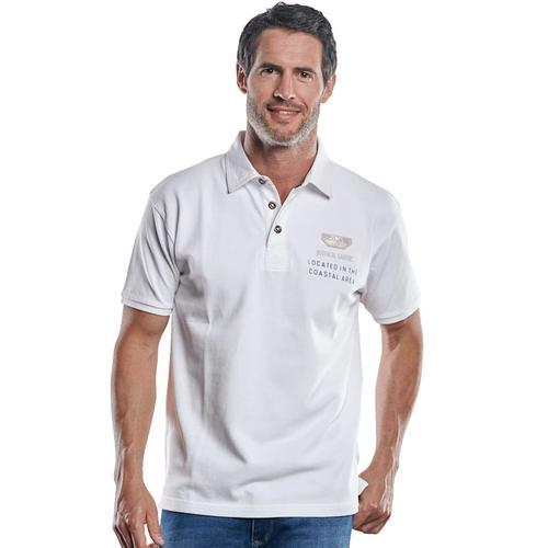 Poloshirt mit sportiver Verarbeitung Engbers Reinweiss