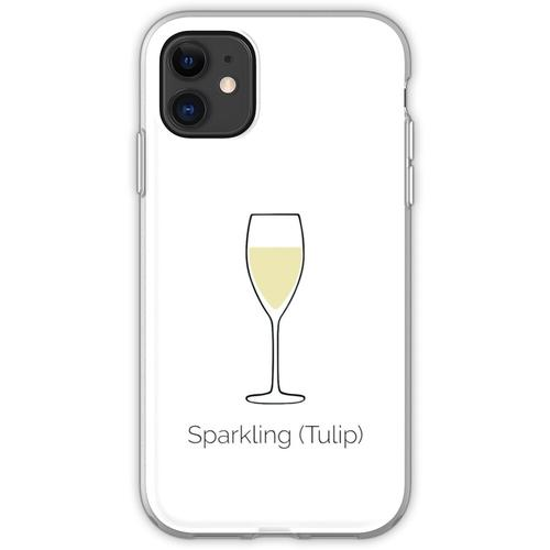 Sekt, Sektglas, Sekt Flexible Hülle für iPhone 11