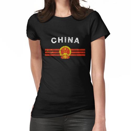 Chinesisches Flaggen-Hemd - chinesisches Emblem u. China-Flaggen-Hemd Frauen T-Shirt
