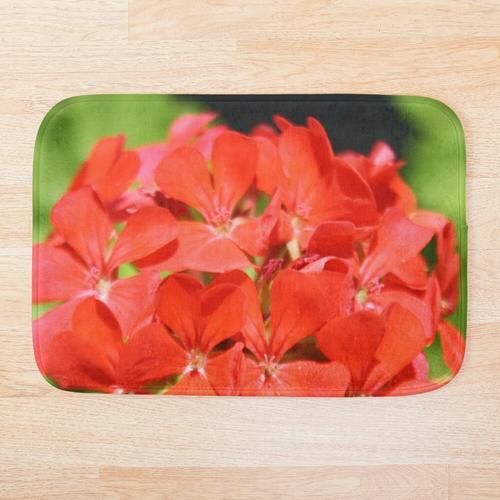 Rote Pelargonie Pelargonium hortorum Badematte