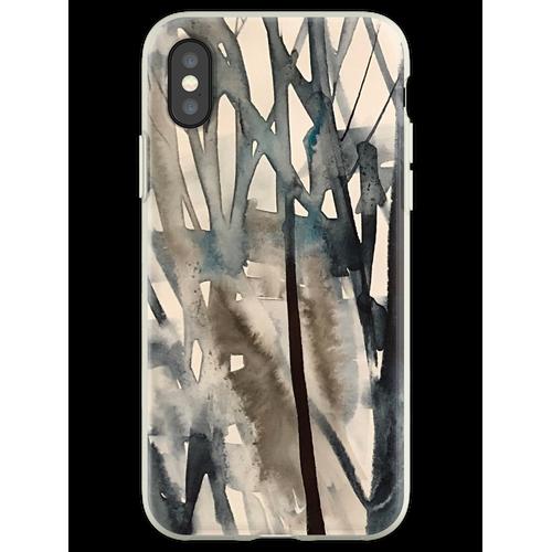 Winterbüsche Flexible Hülle für iPhone XS