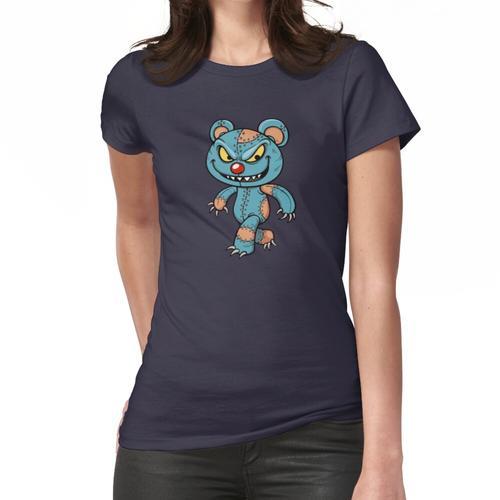 Böse Scary Teddy Bear Halloween Zombie Frauen T-Shirt