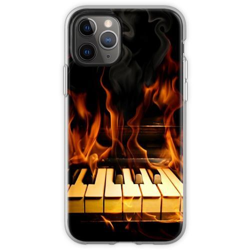 Brennendes Klavier Flexible Hülle für iPhone 11 Pro