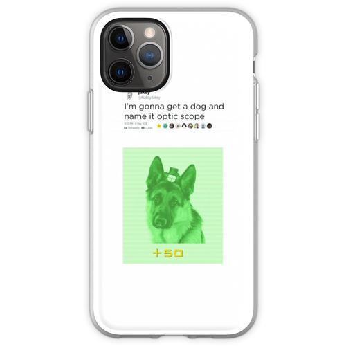 NakeyJakey - Optikumfang Flexible Hülle für iPhone 11 Pro