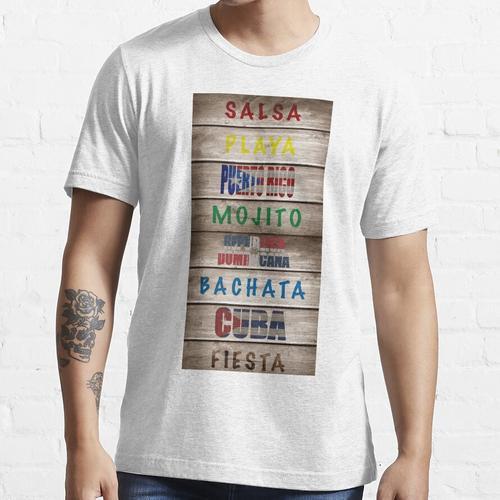 Salsa Es La Cura Holzplatte Essential T-Shirt
