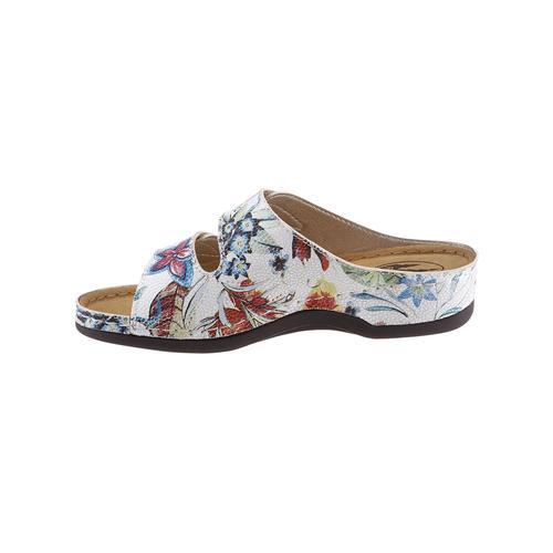 Franken-Schuhe Pantolette weiß Damen Keilschuhe Sommerschuhe