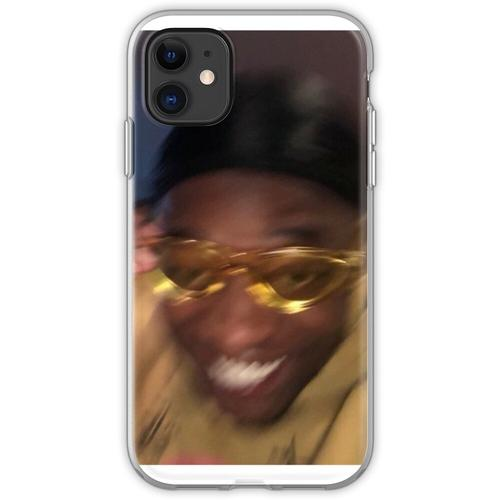 Gelbe Brille Meme Guy Flexible Hülle für iPhone 11