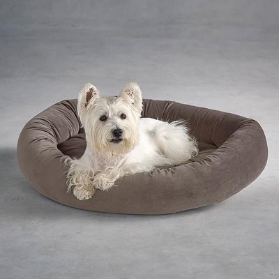 Ashton Donut Super Loft Fiber Pet Bed - Taupe, X-Large (80 to 100 lbs.) - Frontgate