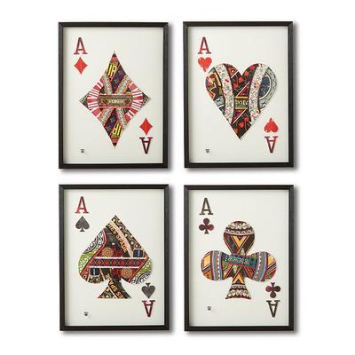 Ace Cut Paper Collages, Set of 4 - Frontgate