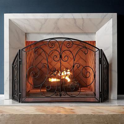 Simone Scroll Fireplace Screen -...