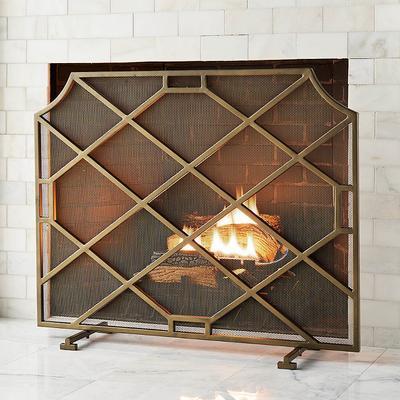 Beckett Fireplace Screen - Black...