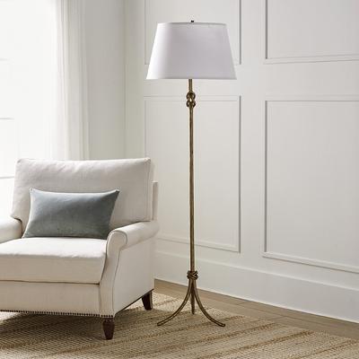 Keeley Black Floor Lamp - Ivory ...