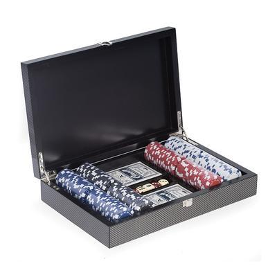 Poker Set in Carbon Fiber Case -...