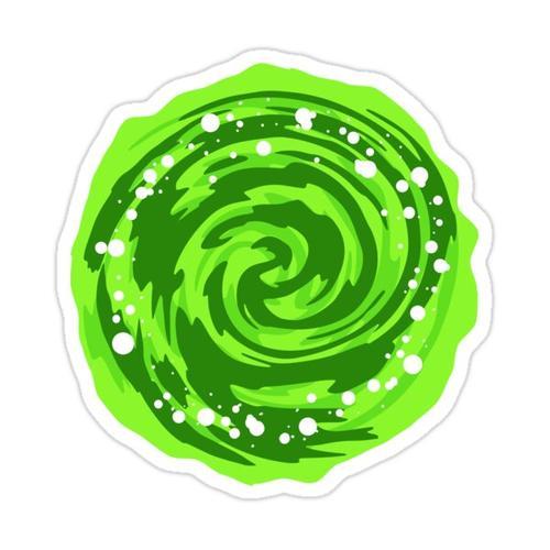 Portal Gun - Green Portal Sticker