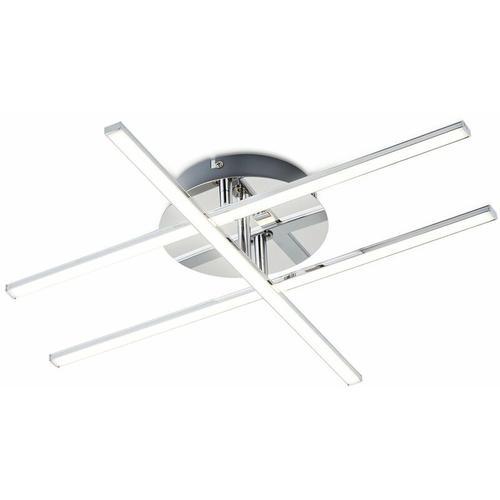 LED Design Decken-Lampe Decken-Leuchte modern Wohnzimmer chrom